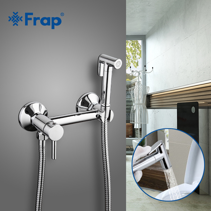 FARP Bidets solid brass tube hot and cold water shower mixer with bidet shower head single