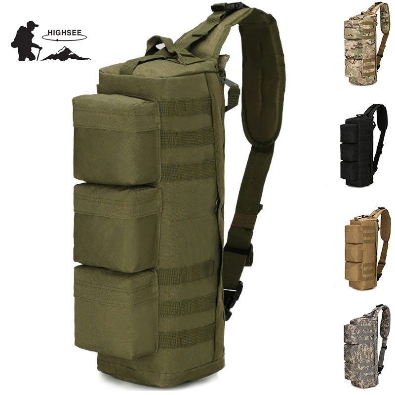 HIGHSEE 2018 Hot Military Tactical Assault Pack Backpack Army Molle Waterproof Bag Small Rucksack For Outdoor Hiking Camping lqarmy 3 day expandable backpack with waist pack large rucksack tactical backpack molle assault bag for day hiking tan