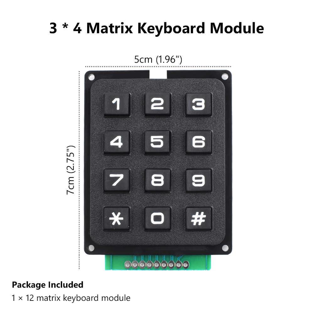 Nouveau 12/16 touches commutateur contrôle matrice rangée claviers Module clavier pour Arduino 3x4 4x4 matrice mot-clé 2 Style pour le choix