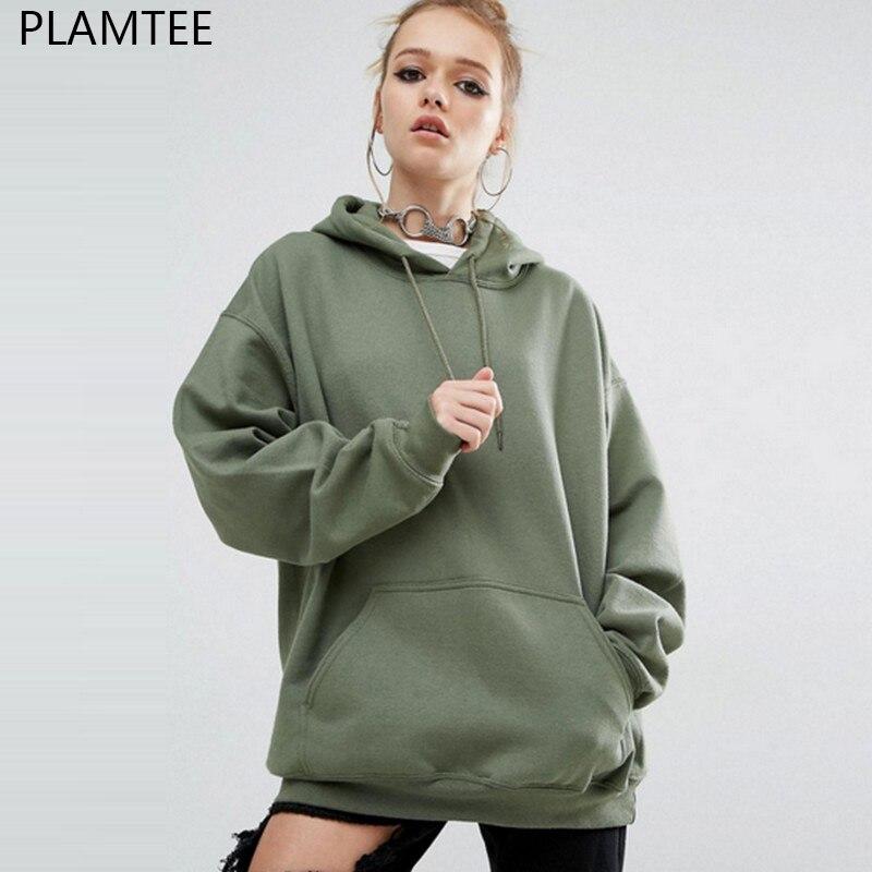 PLAMTEE Autumn Winter BTS Kpop Punk Hoodies Moletom Streetwear Fashion Women Hoody Tracksuit 2017 Jumper Pullover Sweatshirts