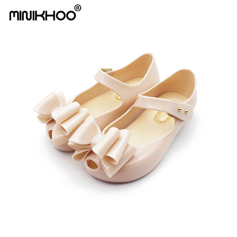 Mini Melissa Princess Sandals Mini Jelly Girls Sandals Shoes Three Big Bows Baby Girl Sandals Toddler Girl Sandals High Quality