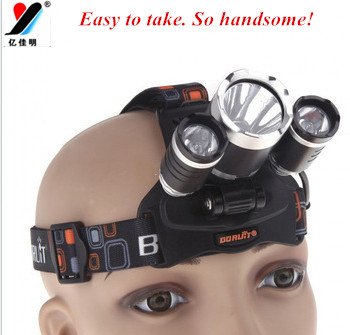 XM-L 3T6 zoomable LED rechargeable headlamp headlight torch head flashlight with 2*18650 rechargeable wall cahrger car charger