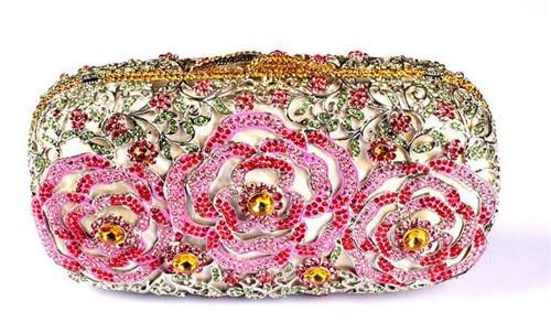 Luxury Designer Handbags For Women High Quality Australia Crystal Clutch Evening Bags Fl Brides Pink