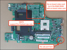 Fully Test New Laptop Motherboard For Lenovo B580 B590 Notebook PC HM70 For Pentium cpu only