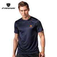 FANNAI camisa hombres camisetas corriendo camisas para hombre gimnasio t camisa deportes Jersey rápido seca Fit camiseta corriendo hombre