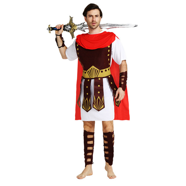 adult men fancy dress roman brave warrior soldier gladiator arm guard cosplay costume halloween makeup party