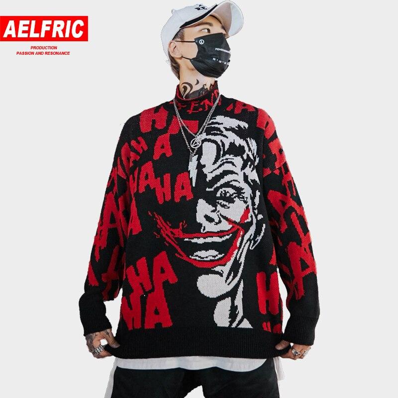 Aus Dem Ausland Importiert Lustige Clown 3d Print Pullover Stehen Kragen Gestrickte Mantel Mode Hip Hop Pullover Streetwear Paar Pullover Strickwaren Bf13 Rohstoffe Sind Ohne EinschräNkung VerfüGbar Strickjacken Pullover