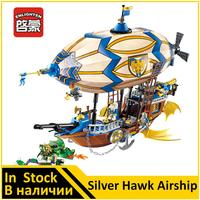 ENLIGHTEN 2316 Silver Hawk Airship VS Green Dragon Compatible Middle earth Knight Building Block Toys for Boys