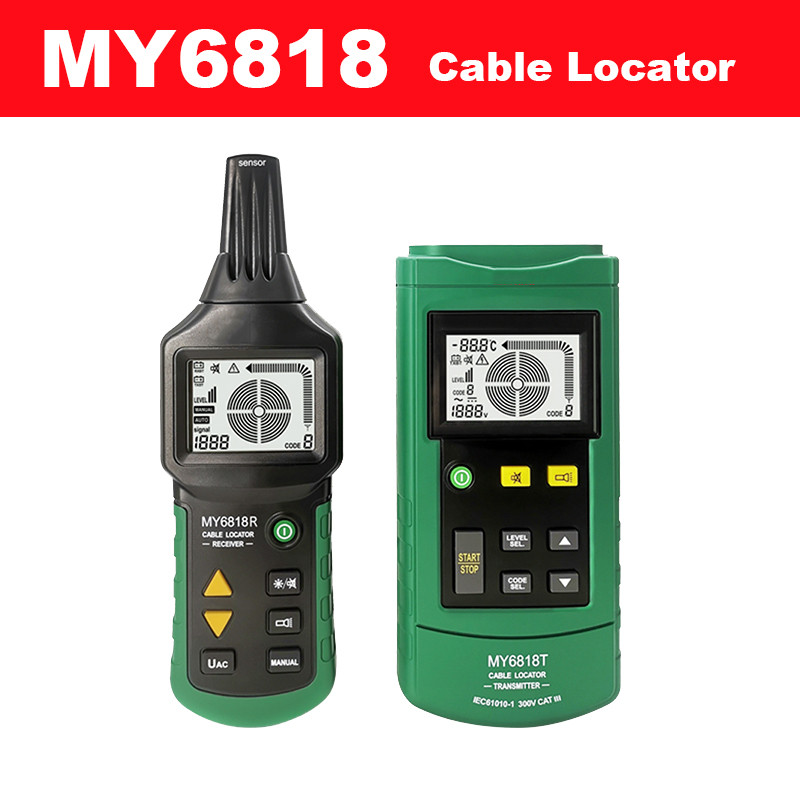 Numérique MS6818 testeur de fil avancé tracker détecteur de câble multifonction 12 ~ 400 V compteur de localisation de tuyau avec lumière noire