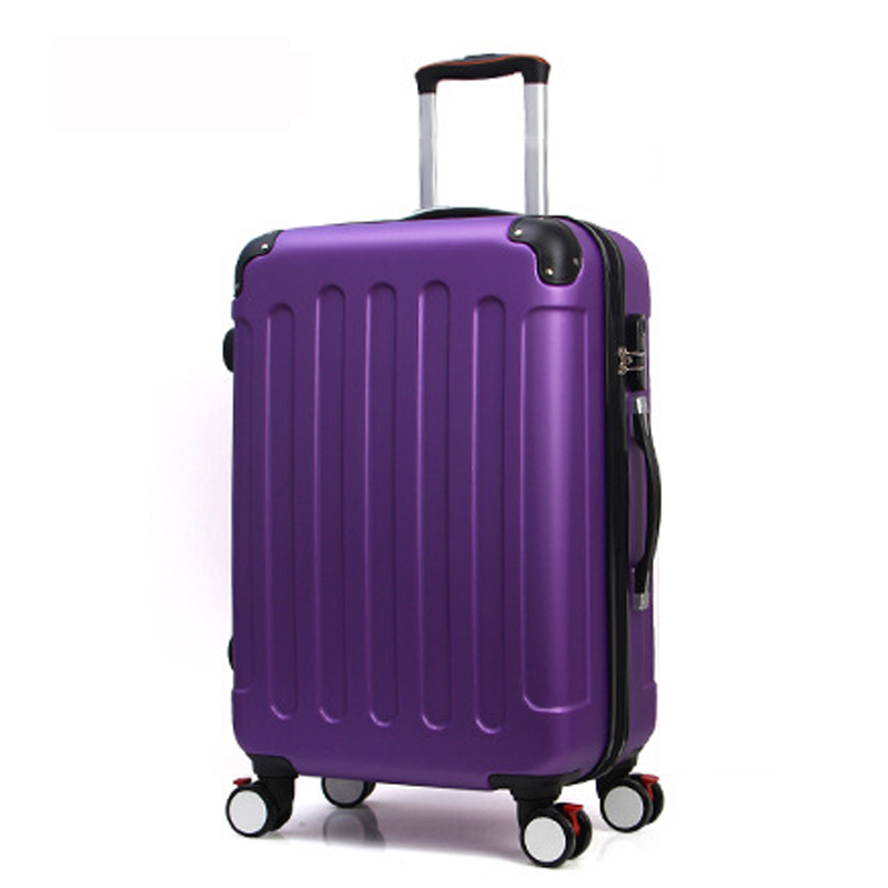28 inch Classic striped patch Trolley suitcase/rolling spinner wheels Pull Rod luggage/Women Girl traveller case boarding bag