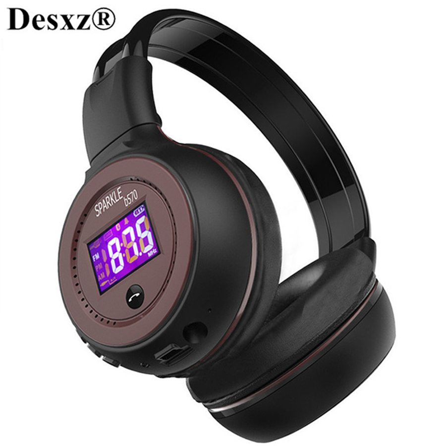 B570 Wireless Bluetooth Headphone HiFi Stereo Headset With Microphone FM Radio Micro SD Card Play for Iphone Samsung Xiaomi HTC sound intone bluetooth headset with microphone support micro sd tf fm radio wireless headphones for iphone pc