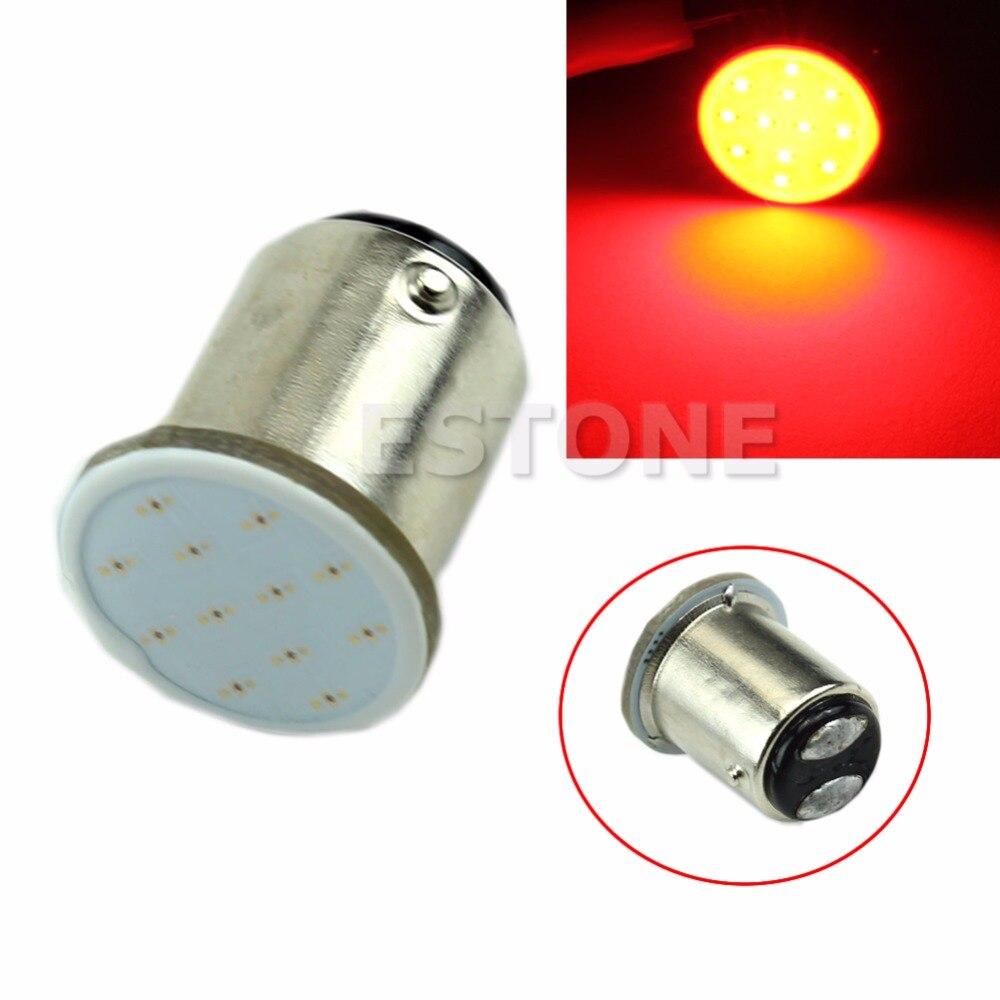 Red 1157 BAY15D 12-chips COB Bright LED  Rear Light Car Bulb Lamp