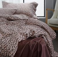 European American Bedding Set Full Queen King Fashion Leopard Print 60s Cotton Home Textile Bed Sheet