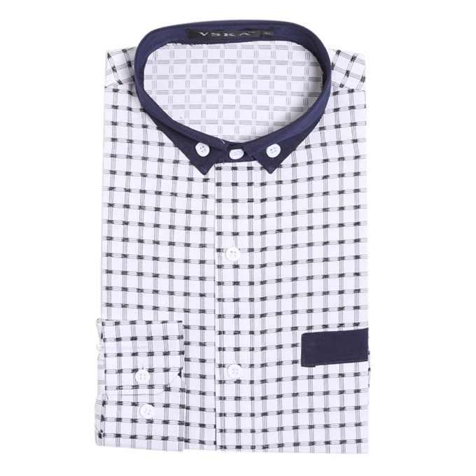 CH. KWOK Camisa Masculina модная мужская рубашка повседневная с длинными рукавами Chemise Homme Высокое качество Тонкий плед платье рубашка блузка