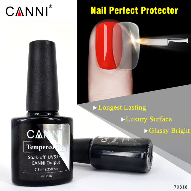 CANNI New Tempered Top Coat Non cleaning No Wipe 7.5ml Long Lasting ...