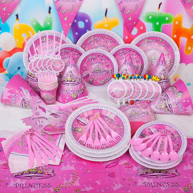 DIY Princess girl Kids Birthday Decoration Set Princess Theme