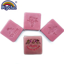 4 Kinds Of Wine Soap Stamp Diy Grape Handmade Transparent Natural Organic Glass Chapter Acrylic Seal Custom