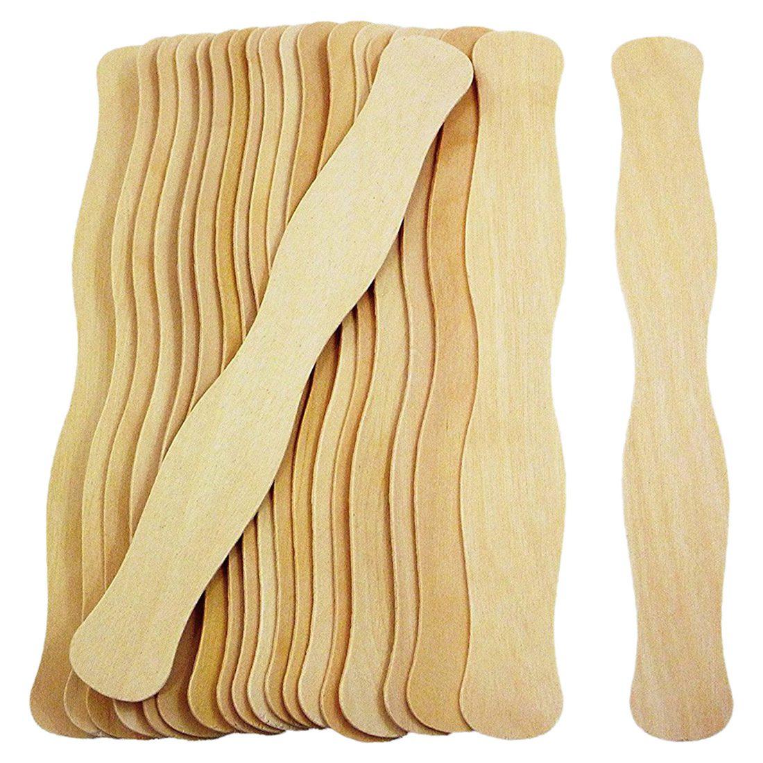 200x Jumbo 8 Inch Popsicles Long Wooden Amp Wavy Bulk