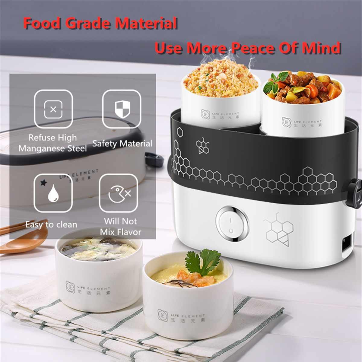 Portable électrique 220 V chauffé boîte à Lunch Bento boîtes Auto voiture nourriture riz conteneur plus chaud pour école bureau maison vaisselle
