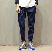 2015 summer autumn dark jeans men straight jeans contracted han edition cultivate one's morality harlan bound feet pants