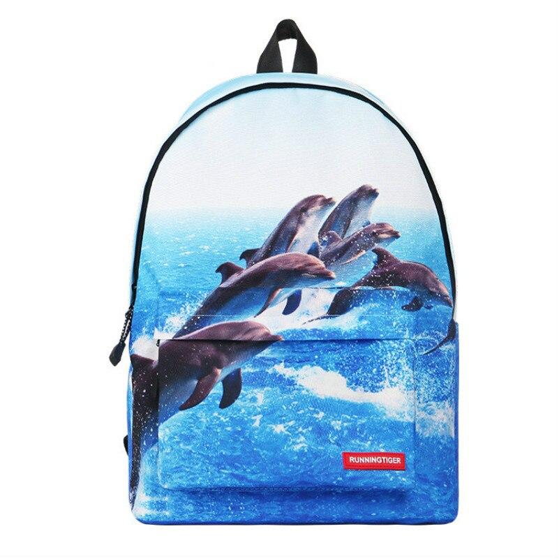 Nouveau sac d'école de dauphin de bande dessinée pour enfants sacs à bandoulière de hibou étudiant sac à dos de voyage d'éléphant Animal sacs à dos de tigre