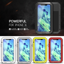 Aluminum Metal Cover For iphone XS Waterproof Full Body Heavy Duty Armor Case X Shockproof for iphoneXS