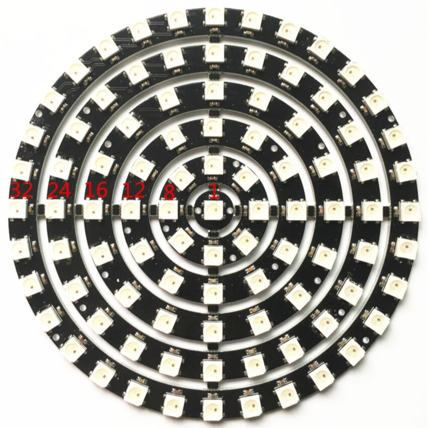 Electronic Components & Supplies Ws2812b Ring 1 8 12 16 24 32 93 Bits Leds 5050 Rgb Addressable Ring Round Led Pixel Lamp Light With Integrated Drivers Dc 5v Great Varieties