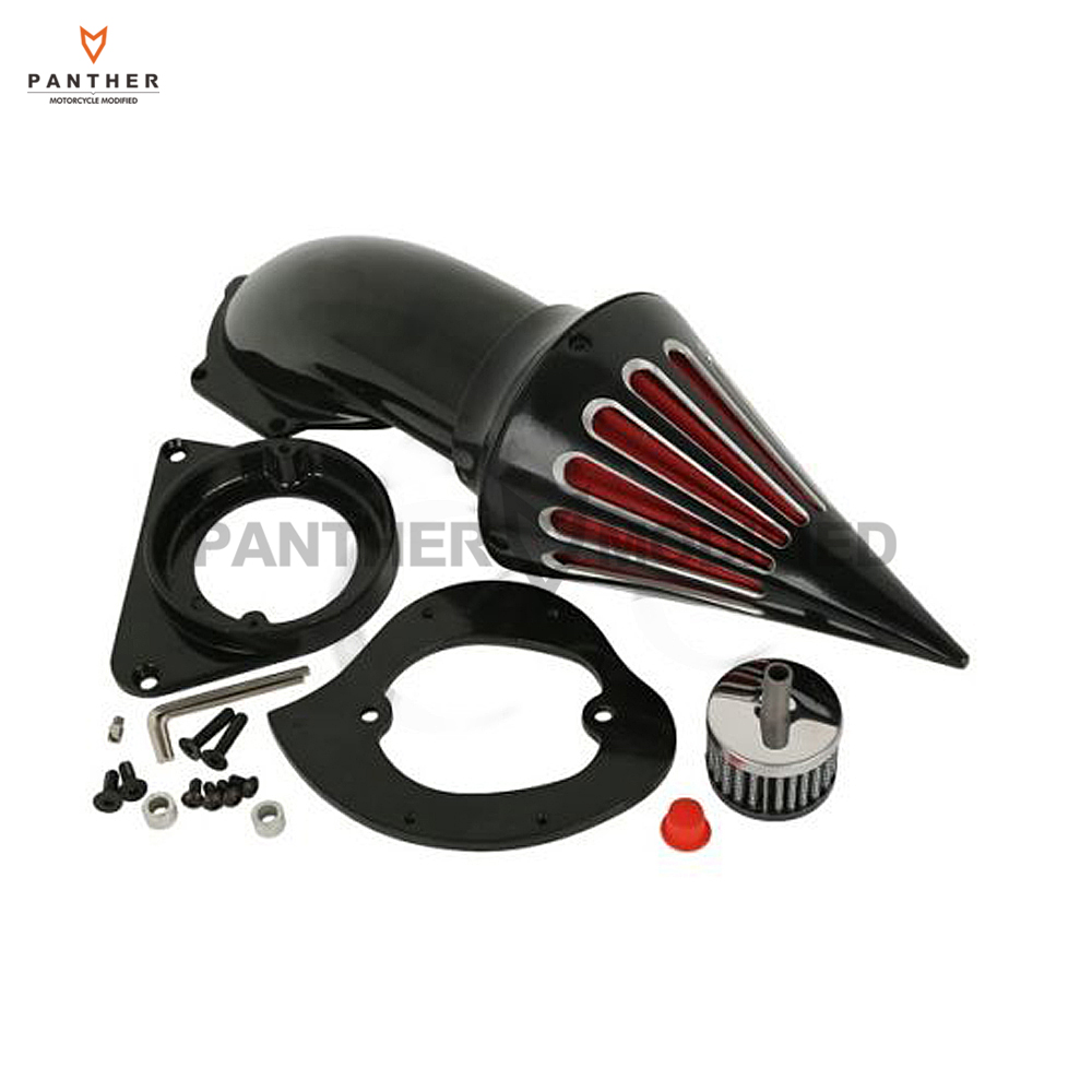 Black Motorcycle Spike Air Cleaner Intake Filter Kit case for Kawasaki VN800A VN 800 Classic 1995-Up 1996 1997 1998 1999 2000 spike air cleaner kit intake filter for honda shadow spirit ace 750 1998 2013 99