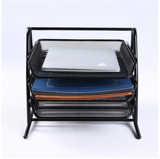 Deli File box three layers file box data box office desk office supplies metal document trays in File Tray from Office School Supplies