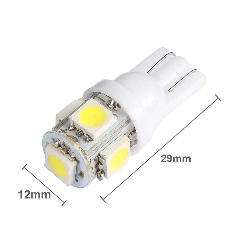 10 Pcs LED T10 W5W Bulb Mobil Interior Dome Membaca Lampu untuk Hyundai I40 I10 Ix35 Getz Santa Fe Tucson 2008 Sonata Elantra Creta