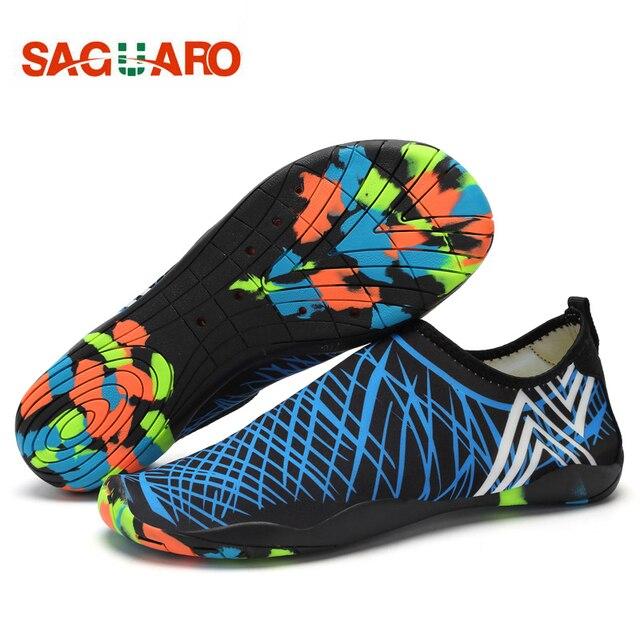 SAGUARO® Unisex malla transpirable Slip-en los zapatos de secado rápido de la aguamarina de agua RT6b8x8p