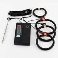 ステンレス鋼ペニス尿道サウンディングプラグ電気/電気ショックアナルプラグエクステンダー拡大セックス玩具用電極ギア