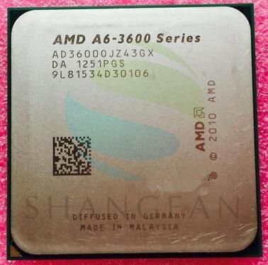 AMD A6 3600 A6 3600 2 1GHz 4M 65W Quad Core CPU Processor AD3600OJZ43GX Socket FM1