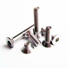 25pcs M2 M3 A2 304 Stainless Steel Metric Threaded Flat Countersunk Head Hex Socket Allen Screw Bolt Dia 2mm 3mm(China (Mainland))