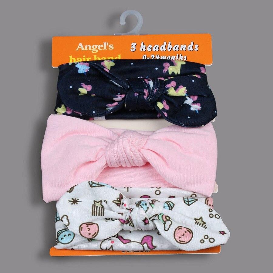 Okdeals 3PCS/Set Fashion Kids elastic hair band Girls Mix Styles Dots Knotted   Headwear   Flower Bowknot turban Hair Accessories
