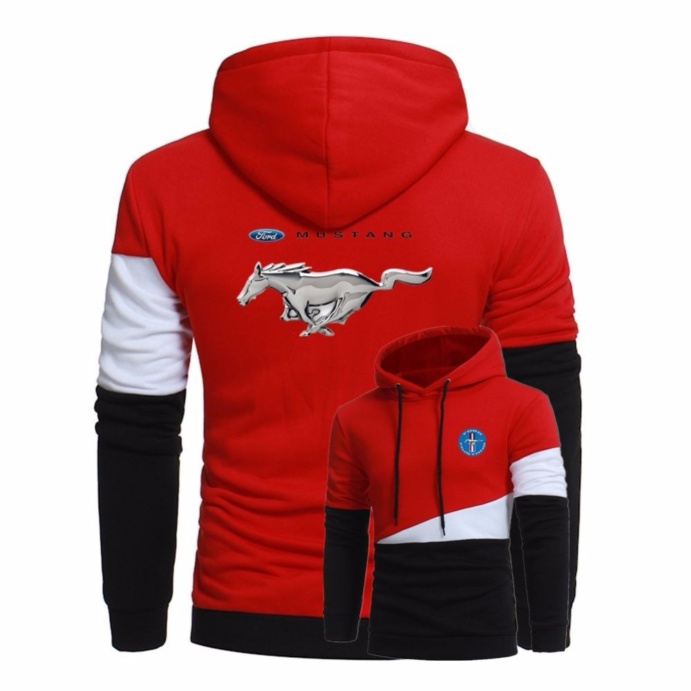 ford mustang printing men stitching hoodies autumn jacket. Black Bedroom Furniture Sets. Home Design Ideas