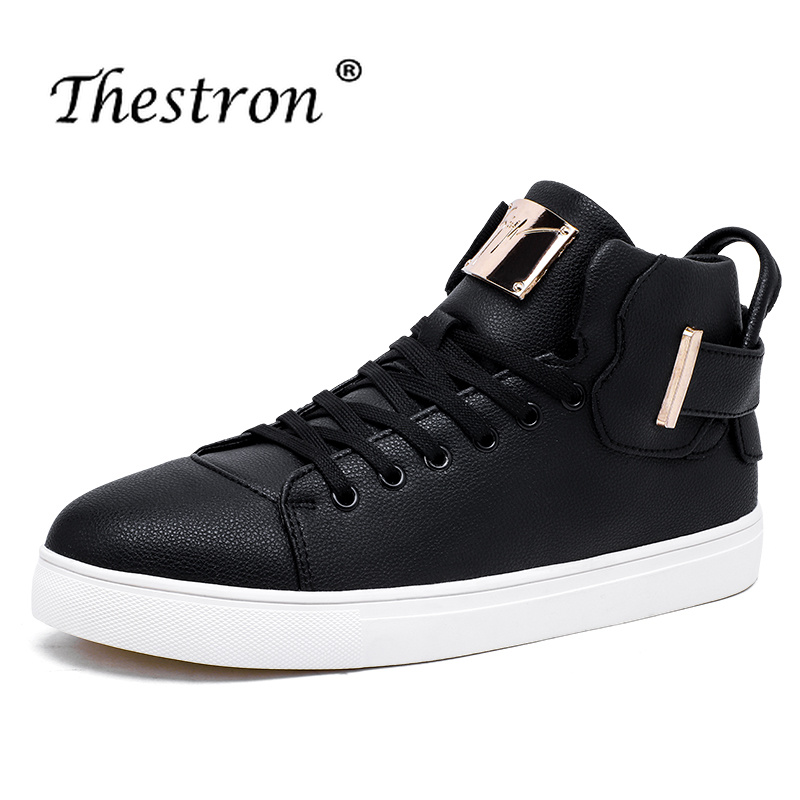 2018 New Young Casual Shoes For Boy Comfortable Men Flats Footwear Fashion High Top Designer Sneakers