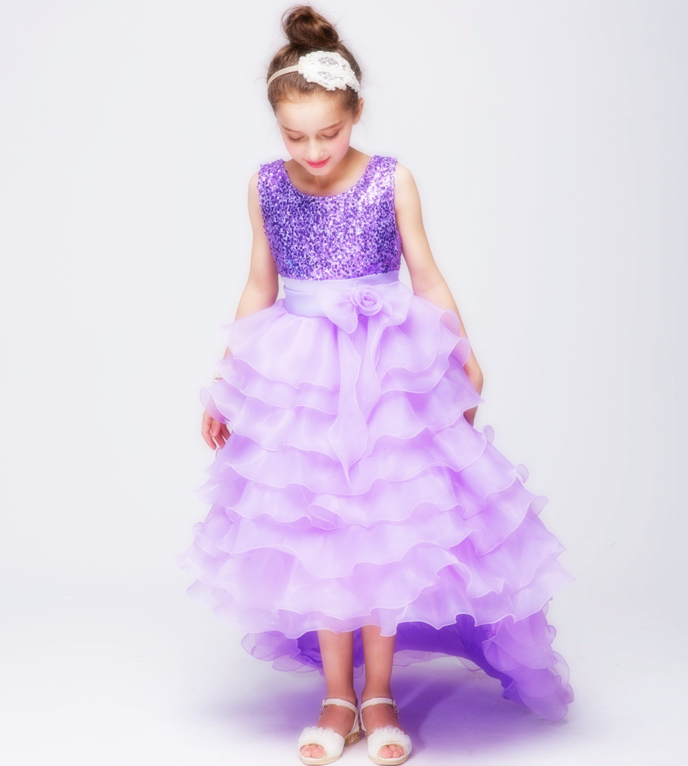 Summer Fashion Girls Dresses for Party Sequin Mullet Dress Wedding Bridesmaid Ball Gown Prom Princess Tulle Dress for Kids Girl