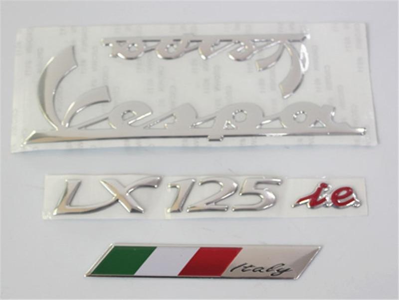 Autocollant De Voiture Moto 3D Vespa Stickers Emblème Autocollants pour PIAGGIO vespa 150 125 lx150 lx125