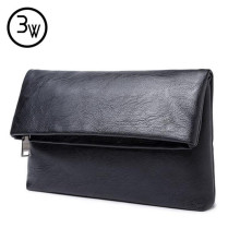 Real Brand 2016 New Arrival High Quality Leather Mens Clutch Wallet Brand Men Purse Big Capacity Black Leather Clutch Bag