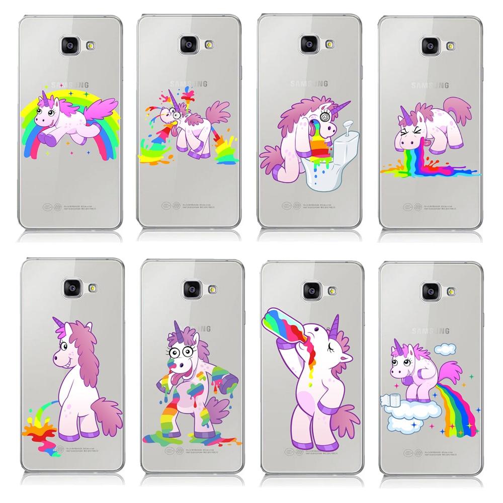 Hot Hippo Rainbow Unicorn Pattern Case For Samsung Galaxy A3 A5 A7 J1 ...