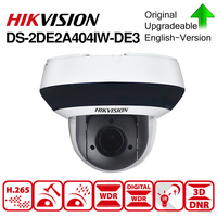 Hikvision Original PTZ IP Camera DS 2DE2A404IW DE3 4MP 4X zoom Network POE H.265 IK10 ROI WDR DNR Dome CCTV Camera