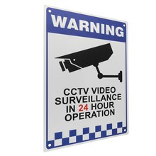 NEW Safurance CCTV Warning Security Video Surveillance Camera Safety Security Sign Reflactive Metal