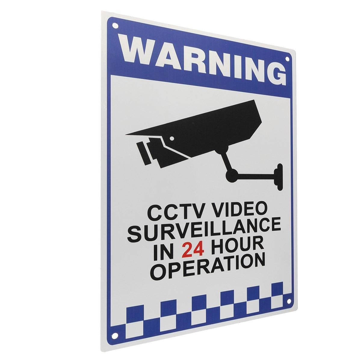 NEW Safurance CCTV Warning Security Video Surveillance Camera Safety Security Sign Reflactive Metal