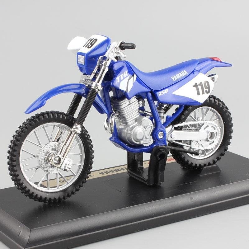 1:18 escala crianças yamaha TT-R250 ttr250 motocicleta motocross da bicicleta sujeira diecast corrida modelagem miniaturas carros brinquedos presente para o menino