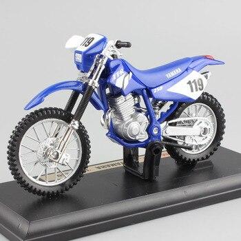1:18 scale children YAMAHA TT-R250 TTR250 motorcycle Motocross dirt bike Diecast race modeling miniatures cars Toys gift for boy