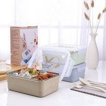 Bento Box Für Lebensmittel Mit Container Mikrowelle Lunchbox Für Kinder Schule Picknick Lebensmittelbehälter