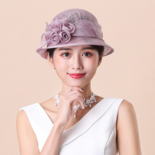Lady Fedoras Hat Ladies Day Royal Ascot Sunshade Female Cap Sunscreen Anti-ultra