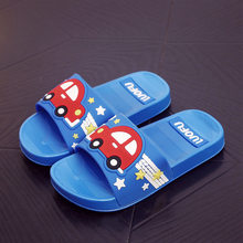 Children Summer Cartoon Car Slippers Boys Girls Indoor Home Water Shoes Toddler Flip Flops Kids Funny Outdoor Beach Sandals(China)