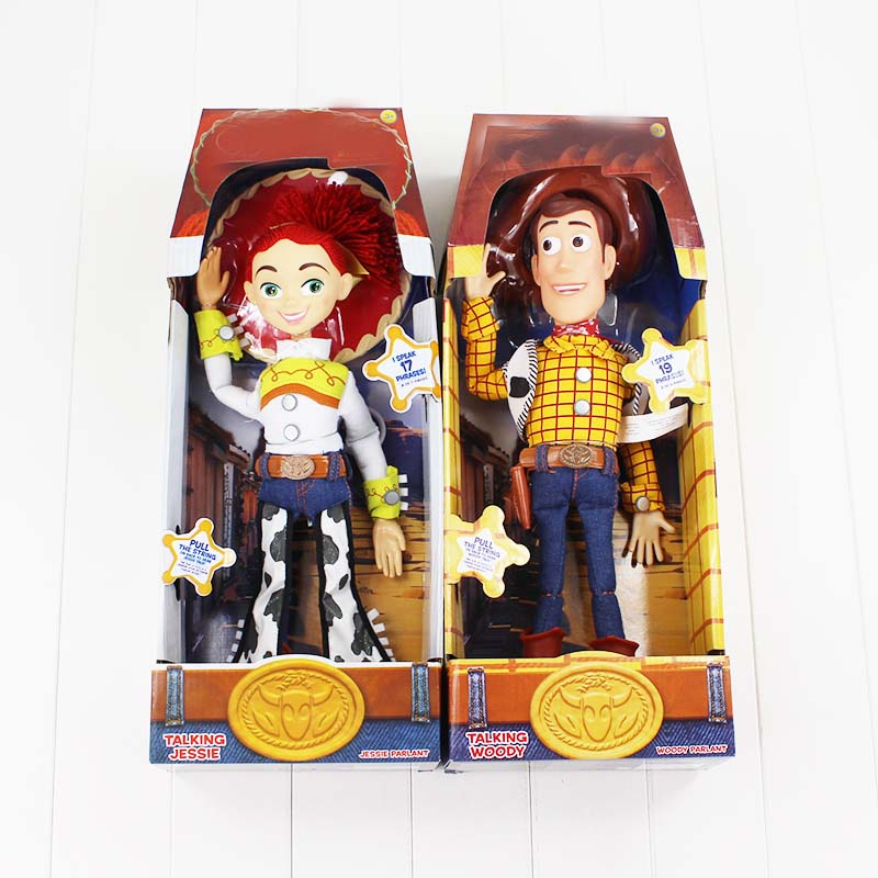 44CM Toy Story 3 Talking Woody Jessie PVC Action Figure Collectible Model Toy Dolls With Sound For Christmas Gifts 4pcs set anime toy story 3 buzz lightyear woody jessie pvc action figure collectible model toy kids gifts 14 5 18cm zy468